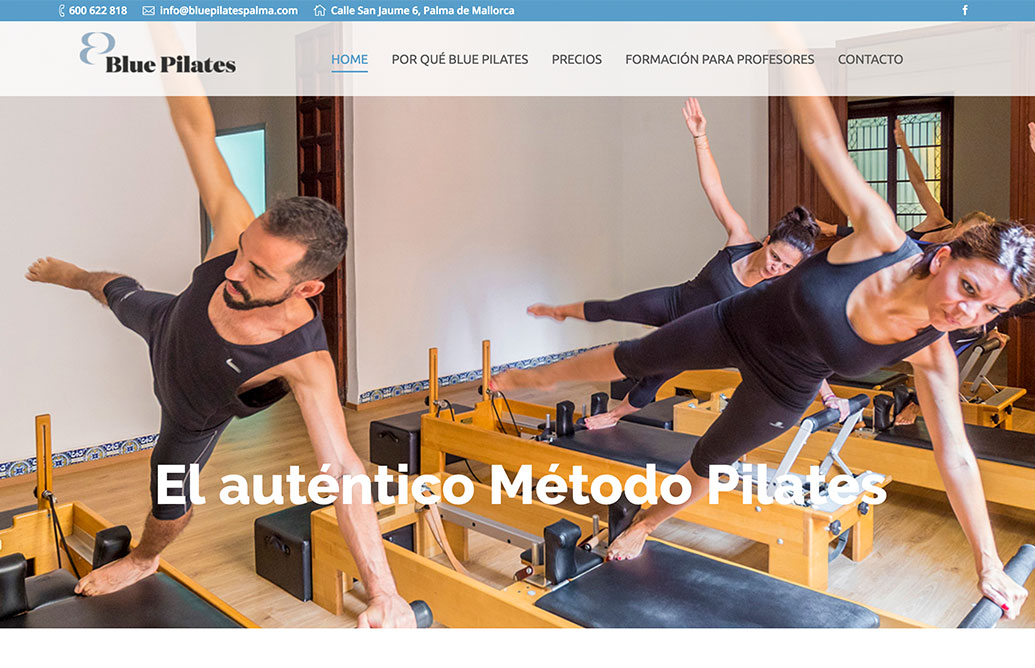 Think different Blue Pilates web 0